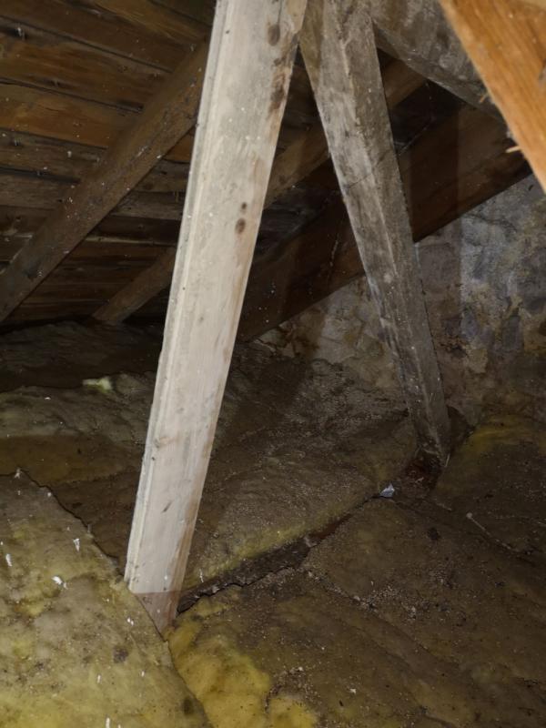 Isolation des combles perdus à Brech dans le cadre d'une rénovation 2