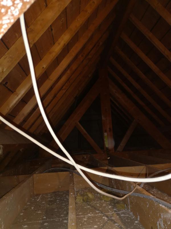 Isolation par soufflage d'une maison à Carnac 2
