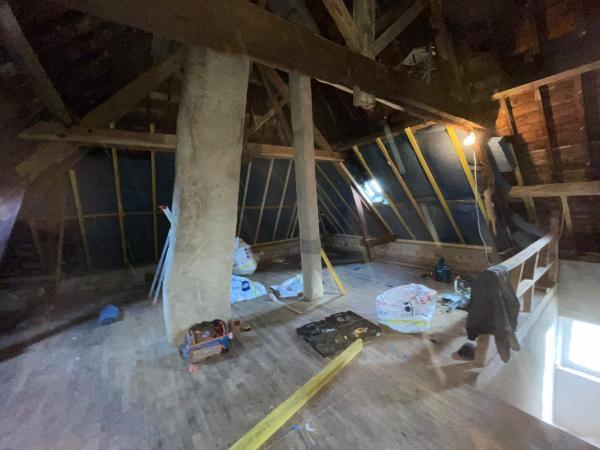 Isolation complète de l'étage sur Locoal-Mendon 2