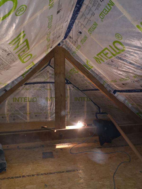 Rénovation bâtisse ancienne avec isolations écologique des rampants à Saint Nolff 3