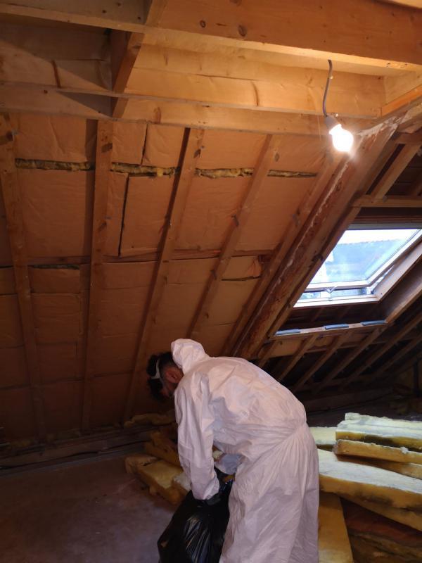 Ty'iso, isolation de combles aménagés sous toiture en rampants à Auray 1