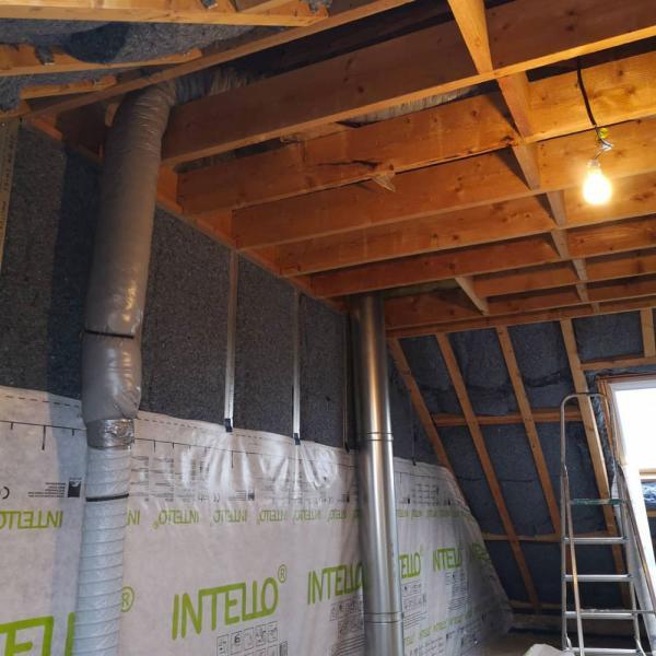 Ty'iso, isolation de combles aménagés sous toiture en rampants à Auray 3