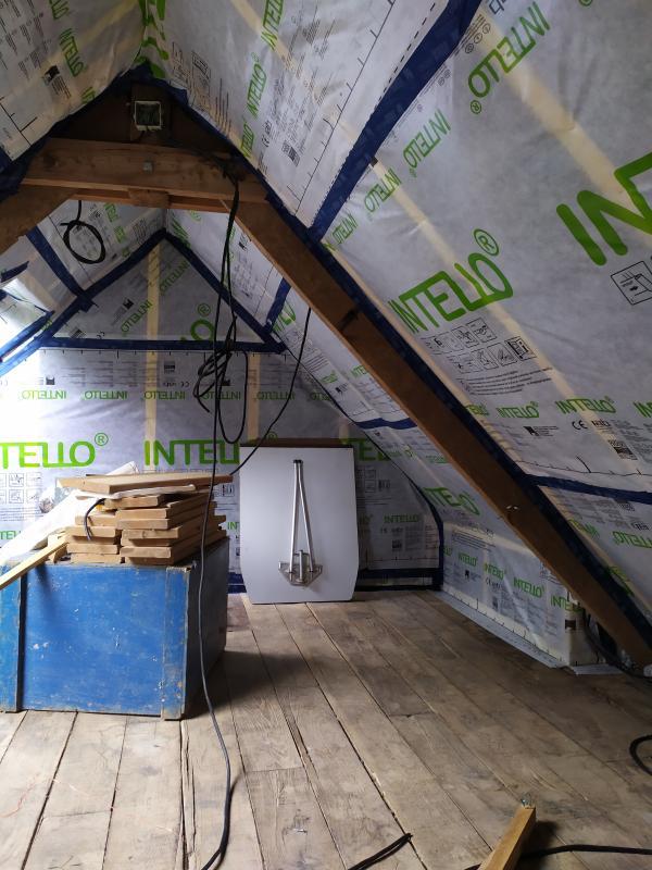Isolation des combles dans une ancienne bâtisse en rénovation à Mohon 4