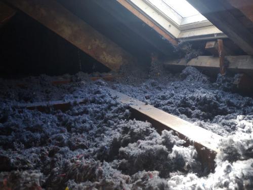 Ty'iso a procédé à l'isolation des combles perdus en laine de coton recyclée écologique à Plouharnel