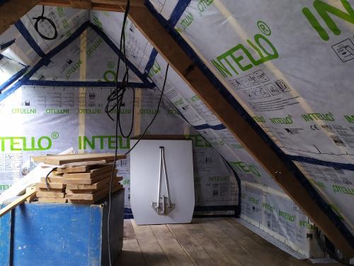 Isolation des combles dans une ancienne bâtisse en rénovation à Mohon